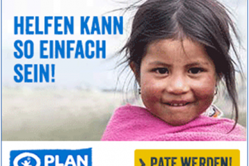Banner von Plan International 'Einfach'